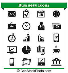 Business Icons Set - Vector set of business related icons...