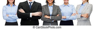 friendly international business team or group - business and...