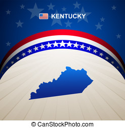 Kentucky map vintage vector background
