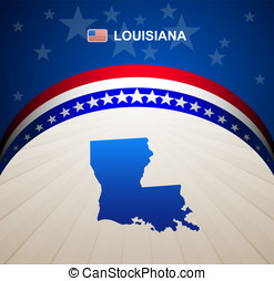 Louisiana map vector background