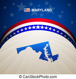 Maryland map vector background