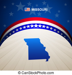 Missouri map vector background