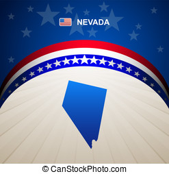 Nevada map vector background