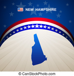 New Hampshire map vector background