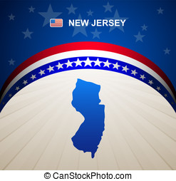 New Jersey map vector background
