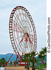 Ferris wheel  in Batumi, Georgia, travel background