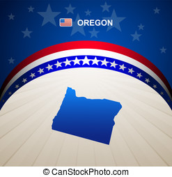 Oregon map vector background