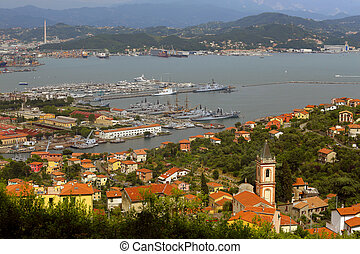 La Spezia - view of the La Spezia, italy