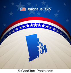 Rhode Island map vector background