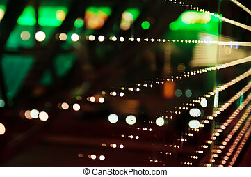 City lights - Abstract city lights, defocused colorful bokeh...