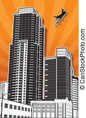 San Diego Vector 4 - This is a vector illustration of some...