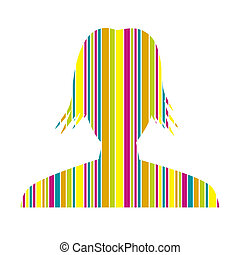 the stylish streaky head silhouette - the illustration of...