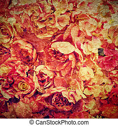 Rose background - Background from red artificial wedding...
