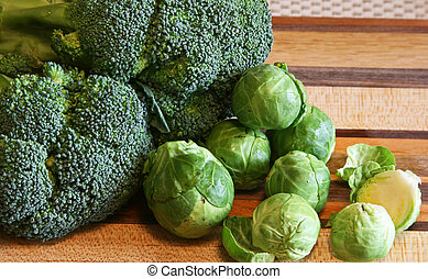 Broccoli and Brussel Sprouts - Broccoli and brussell sprouts...