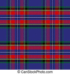 vector seamless pattern Scottish tartan Stewart - vector...
