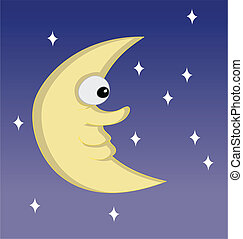 half moon cartoon