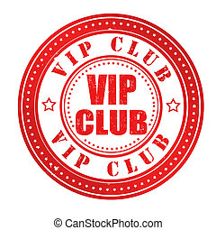 Vip club stamp - Vip club grunge rubber stamp on white,...