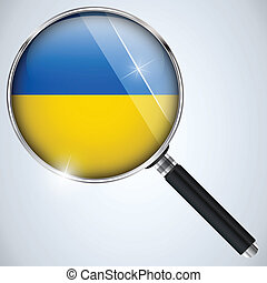 NSA USA Government Spy Program Country Ukraine - Vector -...