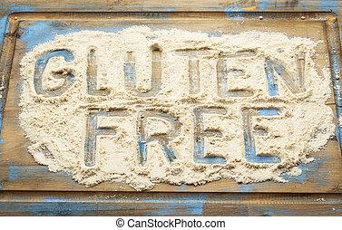 livre, farinha,  gluten, palavras