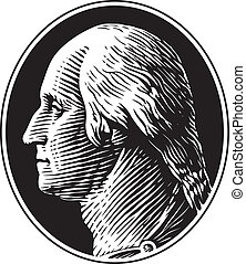 George Washington Portrait Vector - George Washington...