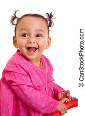 Cute little african american baby girl- Black people,...