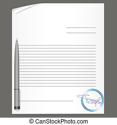 blank contract with pen