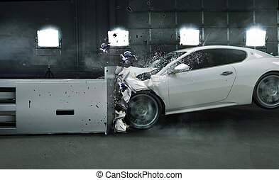 arte, foto, chocado, coche