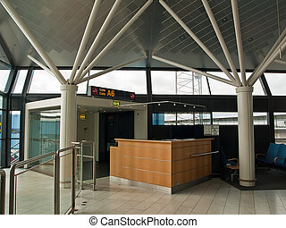 Airport Check-in counter gate - Modern Airport Check-in...