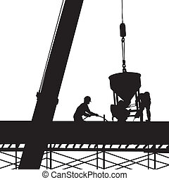 construction silhouette vector - image of Silhouette...