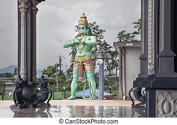 Hanuman Statue at Hindu Temple - Hanuman Statue at Hindu Sri...