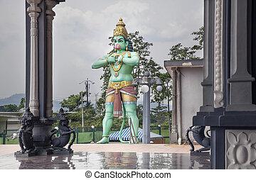 Hanuman Statue at Hindu Temple - Hanuman Statue at Hindu Sri...