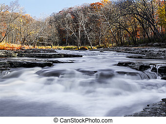 Mill Creek Whitewater - Whitewater cascades over limestone...