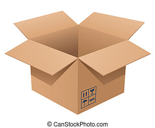 Cardboard Box - Vector illustration of a cardboard box