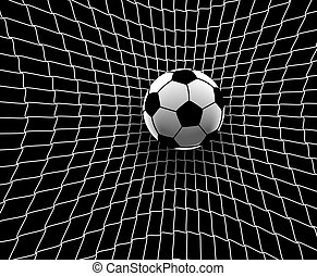 Football goal - Editable vector illustration of a football...