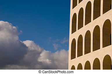 Particular of a building of Mussolini time architecture...