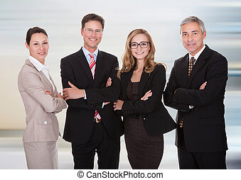 Group of business professionals - Group Of Happy Confident...