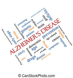 Alzheimer's Disease Word Cloud Concept Angled