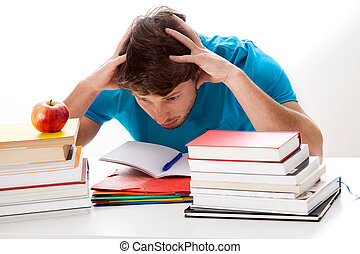 Too much studying - A student overwhelmed with the amout of...