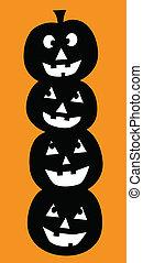 Halloween Pumpkins - Happy Halloween pumpkins smiling