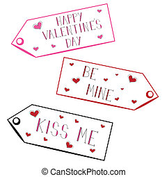 Valentine Tags - Cute red and pink valentine tags