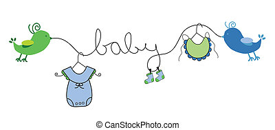 Baby Boy Clothes Line - Cute baby boy clothes line