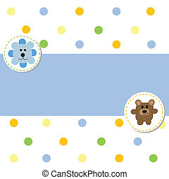 Baby Boy - Cute baby boy announcement card