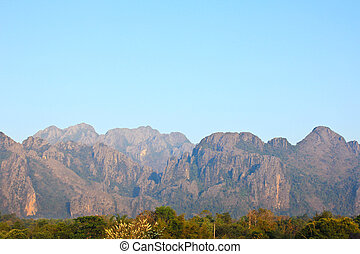 Mountain View in Vang Vieng, Laos