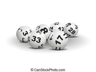 lottery - illustration of lottery balls with different...
