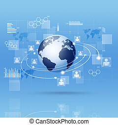 Digital Interface Blue Business Background