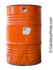 Isolated Industrial Waste Drum - Isolated Oil Drum Or Barrel...