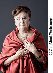 Fashion portrait of a senior lady
