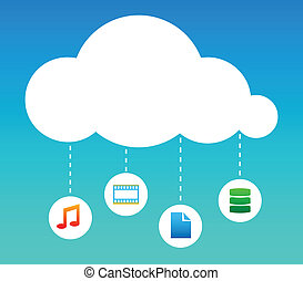 Cloud Computing abstract illustration - Cloud Computing...