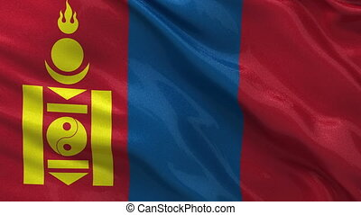Flag of Mongolia - seamless loop - Flag of Mongolia gently...
