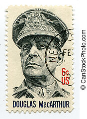 Douglas MacArthur on US postage mark